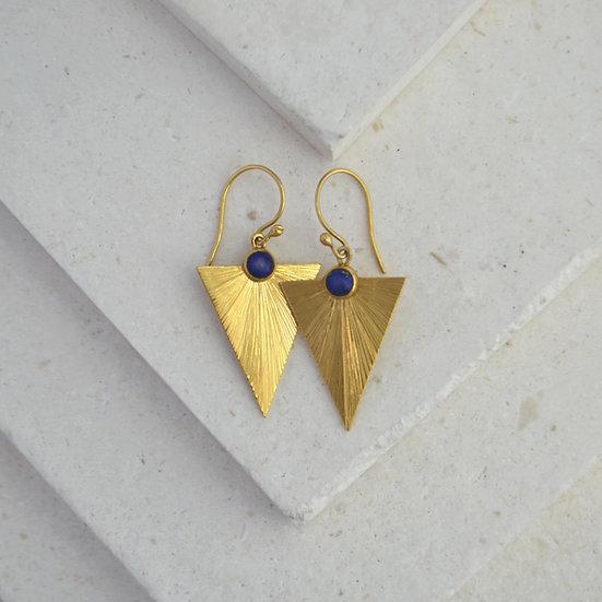 Triangle Sunbeam Earrings