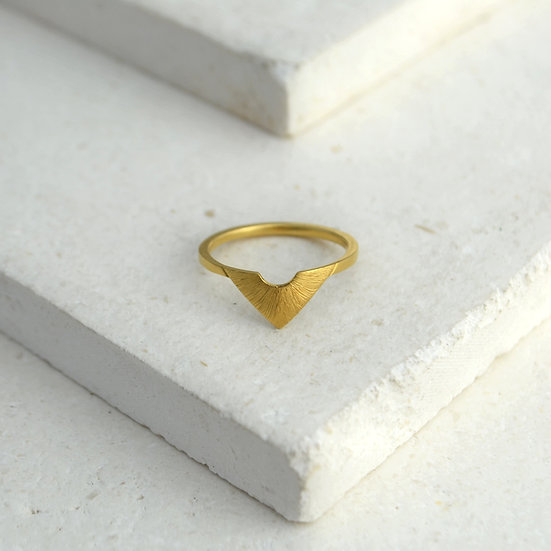 Triangle Sunbeam Ring