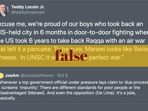 Locsin figures on Marawi, Raqqa conflicts inaccurate