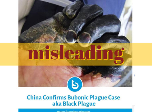 Post on bubonic plague in China misuses 2012 photo