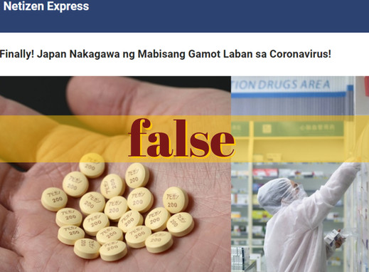 Headline on discovery of COVID-19 drug false