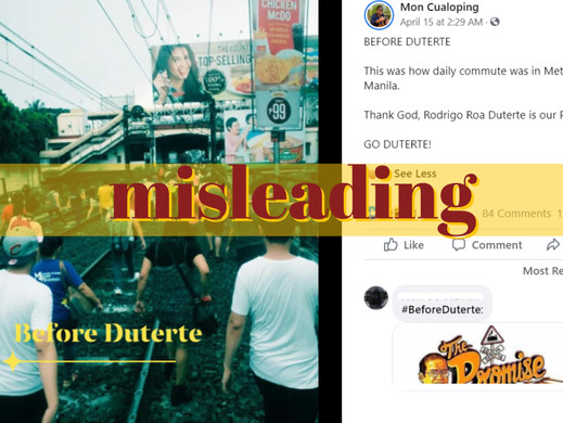 Photo of offloaded MRT-3 passengers taken during, not 'before Duterte'