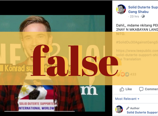 Swedish YouTuber's pic altered, is passed off as king, Duterte fan