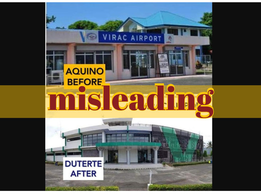 Virac airport before-after graphic misleading