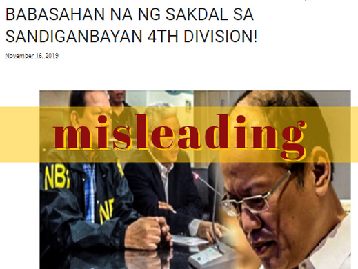 Website posts outdated claim on Mamasapano case vs Aquino