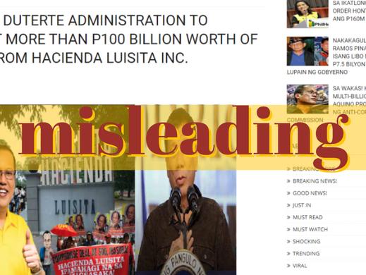 Website posts manipulated image of Hacienda Luisita rally
