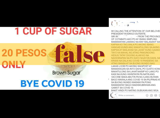 Sugar won't cure COVID-19, can do harm when taken in excess