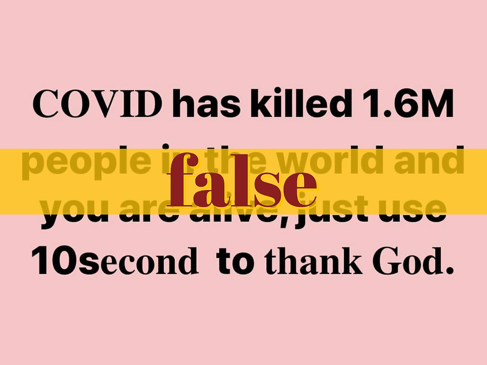 Infographic falsely overstates COVID-19 deaths