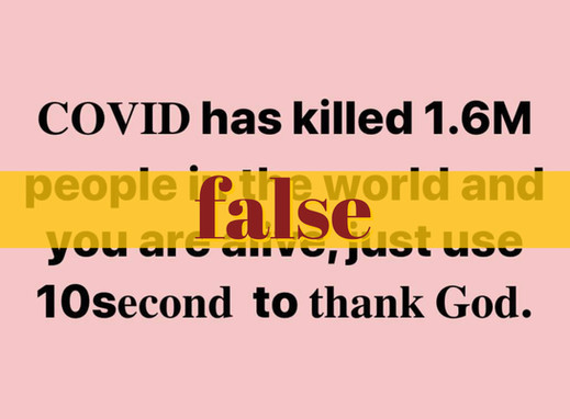 Viral post overstates global COVID-19 death toll by over 1M