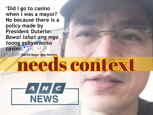 Casino ban on gov't personnel not a recent policy