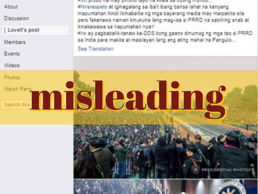 Misleading caption affixed to Indian Day parade photos
