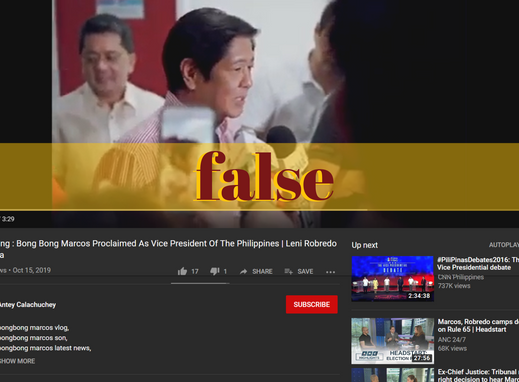 Recycled video falsely claims Marcos is new VP