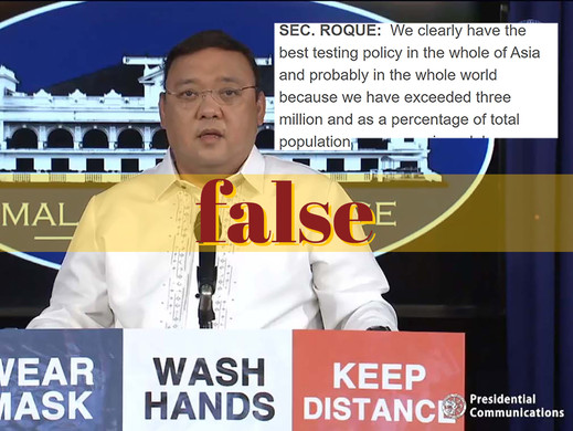 Roque's claim on 'best testing policy' incorrect