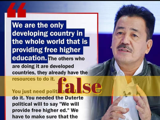 PH isn't lone developing country with free higher education