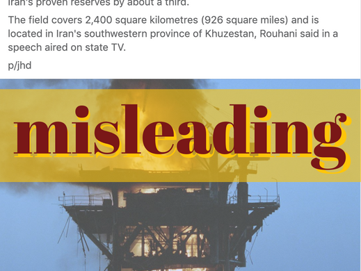 Daily Tribune uses old photo for new Iran oil field