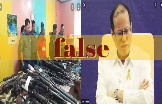 False claim on rifles bought during Aquino term revived