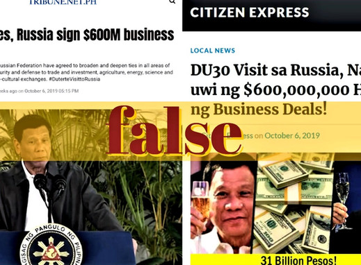 News sites misstate figures on PH-Russia business deals