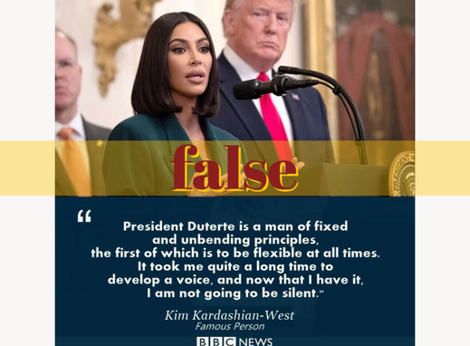 Kim Kardashian quote in support of Duterte fabricated
