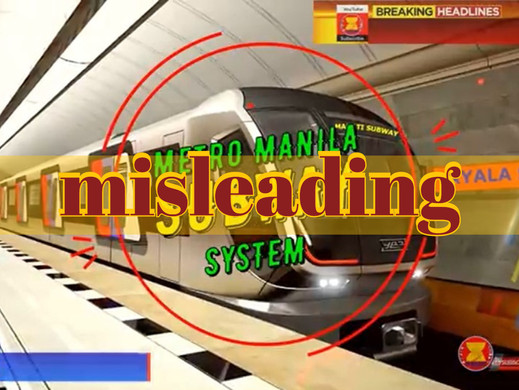 Video of Metro Manila infrastructure projects misleads