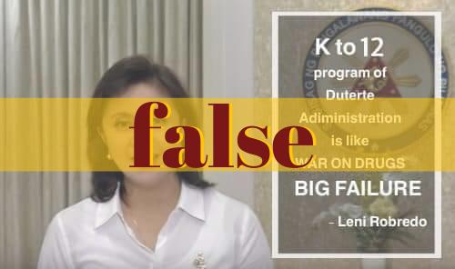 Netizen alters Robredo statement on antidrug war