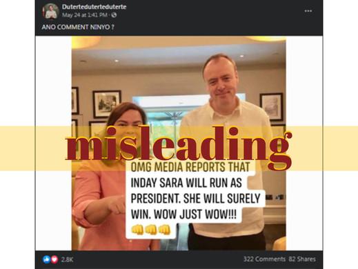 Duterte supporters post misleading claim on Sara Duterte's candidacy