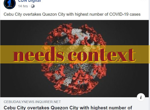 Different datasets used to conclude Cebu City tops COVID-19 cases