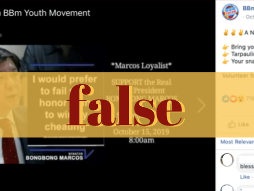 Pro-Marcos FB page alters Marcos quote card