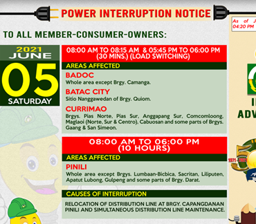 INEC's power interruption notice