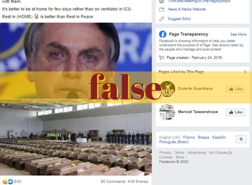 Images of Italy's crying president, COVID-19 coffins false