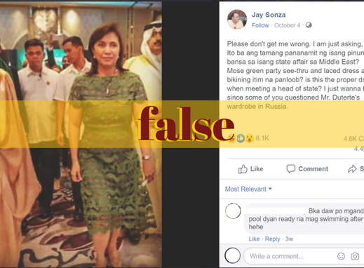 Recycled photo of Robredo not taken in Middle East