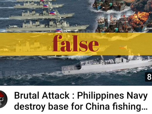 PH didn't attack Chinese base for fishing boats