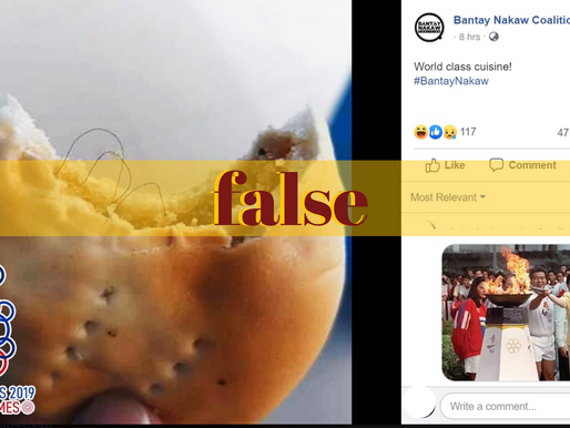 FB photo falsely claims bread with hair served in SEAG