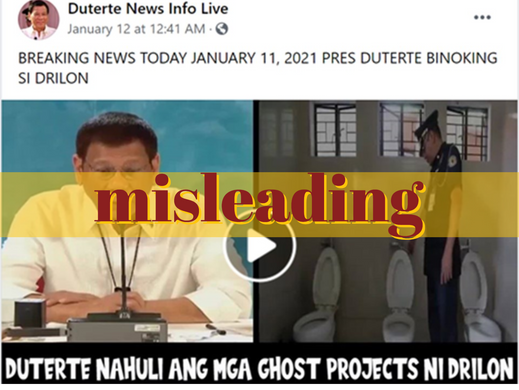 Duterte speeches used to falsely implicate Drilon in 'ghost' projects