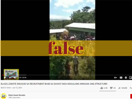 Video falsely claims citizens attacked Elago, Zarate in Davao