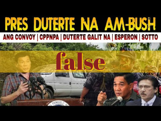 Video falsely claims Duterte ambushed by CPP-NPA