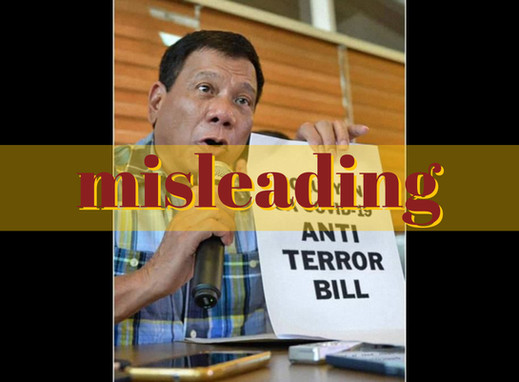 Photo of Duterte with anti-terror bill sign doctored