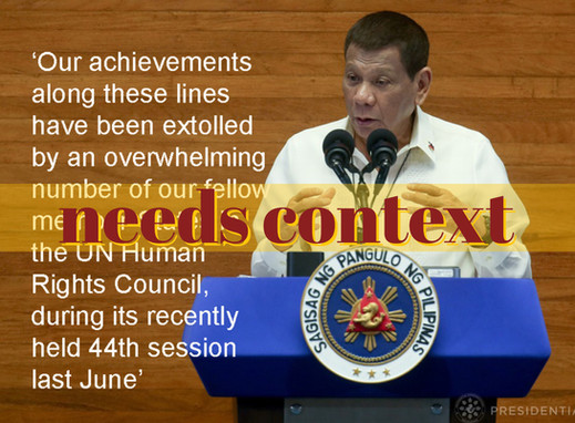 Duterte's report on human rights omits UN concerns
