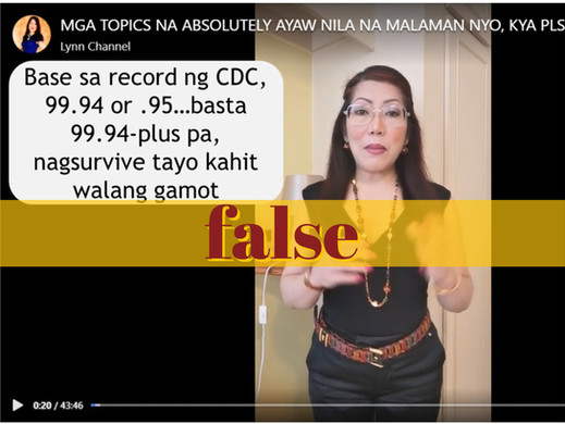 Vlogger's claim on COVID-19 survival rate false