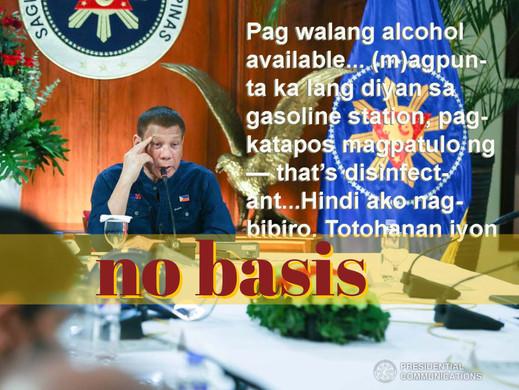Duterte stands pat on gasoline statement, says it's no joke