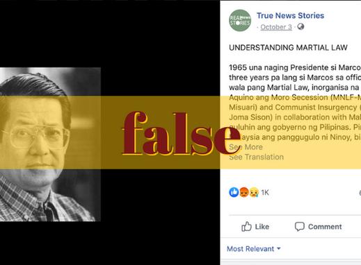FB page revives false claim vs Ninoy Aquino,  CPP-NPA