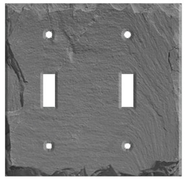 5 Switch Outlet Cover Adorable Vermont Gray Slate Double Toggle Switch Cover  Slate Wall Plates Inspiration