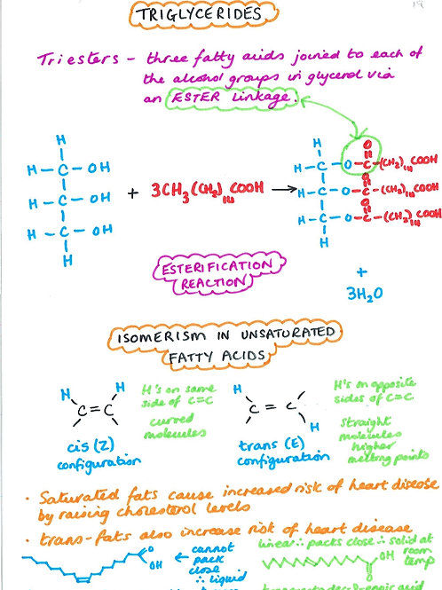 158 - Organic - Triglycerides Esterification and Isomerism