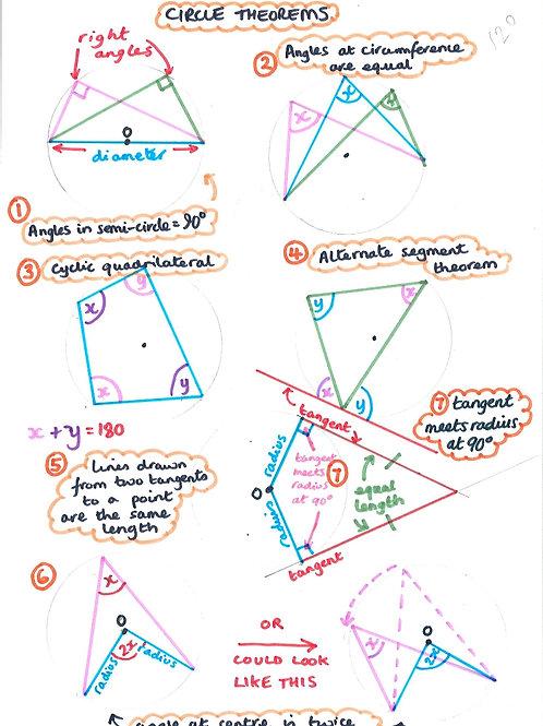 Geometry 33 - Circle Theorems