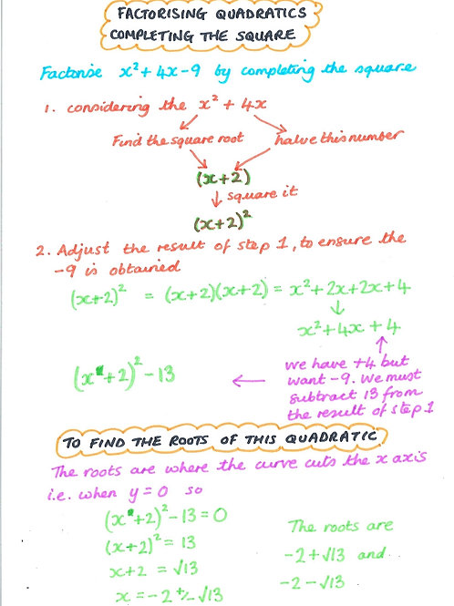 Algebra 38 - Solving Quadratic Equations By Completing The Square