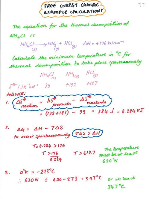 066 - Energetics - Gibbs Free Energy Change Calculation