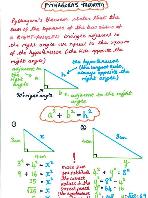 Geometry 21 - Trigonometry Rules - Pythagoras' Theorem