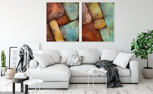 CANVAS PRINT~ 2-piece geometrical painting