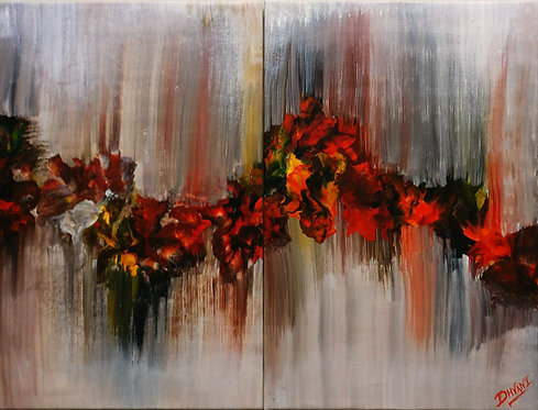 Abstract Acrylic Painting (2 Piece)