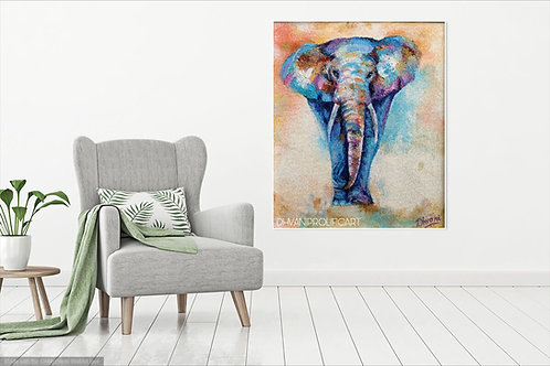 CANVAS PRINT~Abstract elephant painting
