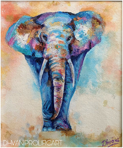 FINE ART PRINT ~ Abstract elephant